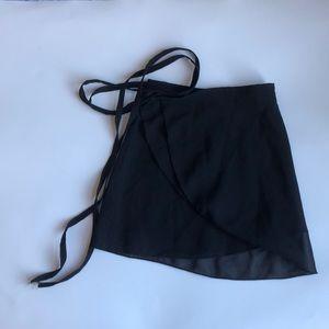 Theatricals Black Ballet Wrap Skirt EUC